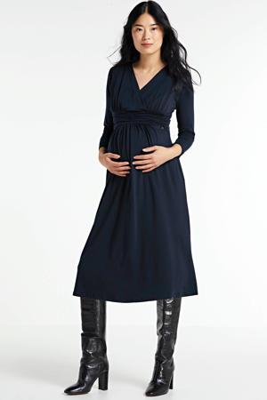 zwangerschaps- en voedingsjurk donkerblauw