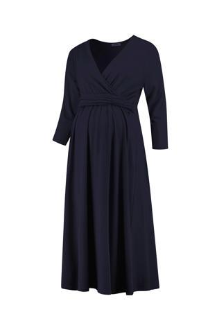 zwangerschaps- en voedingsjurk Dress Nursing Gots donkerblauw