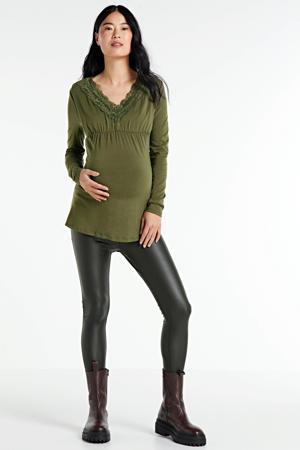 zwangerschapstop olijfgroen