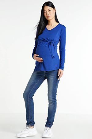 zwangerschapstop marine blauw