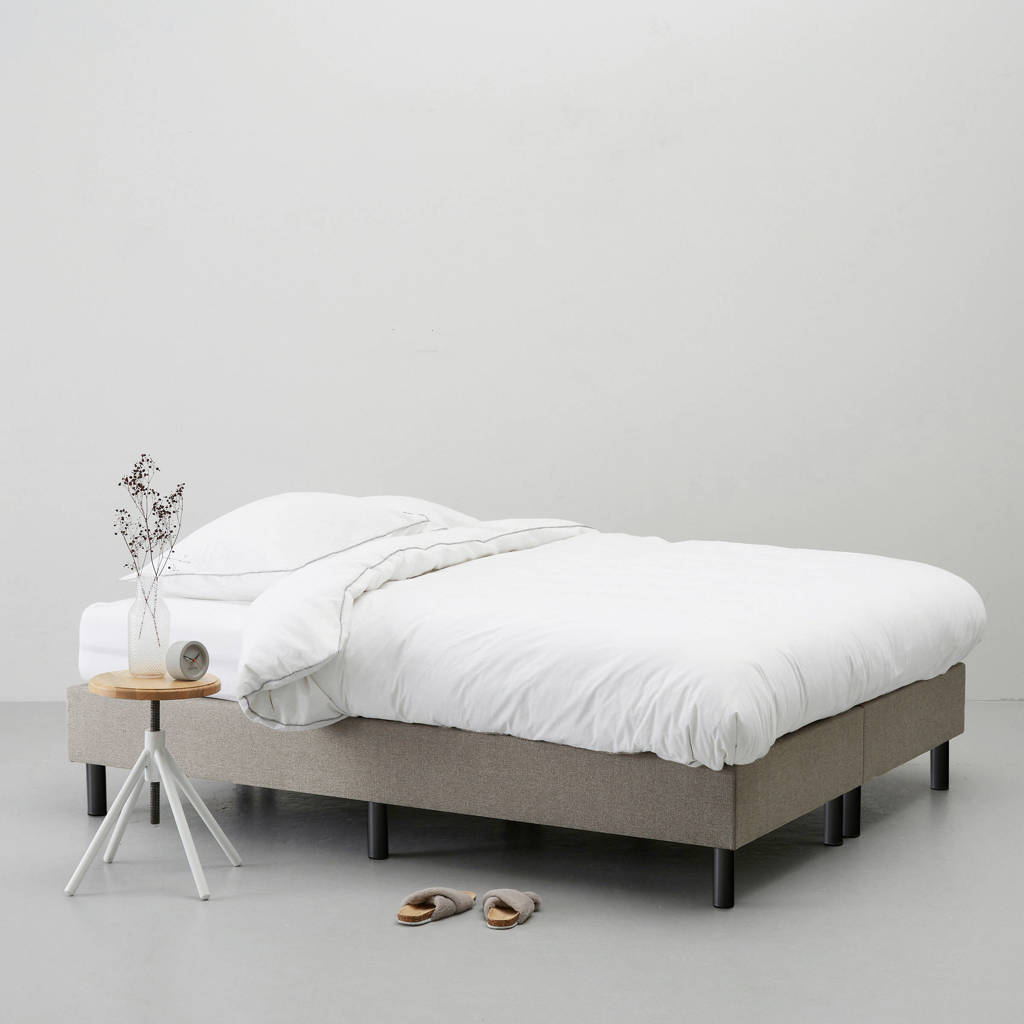 Wehkamp Home complete boxspring Venice (140x200 cm), Taupe