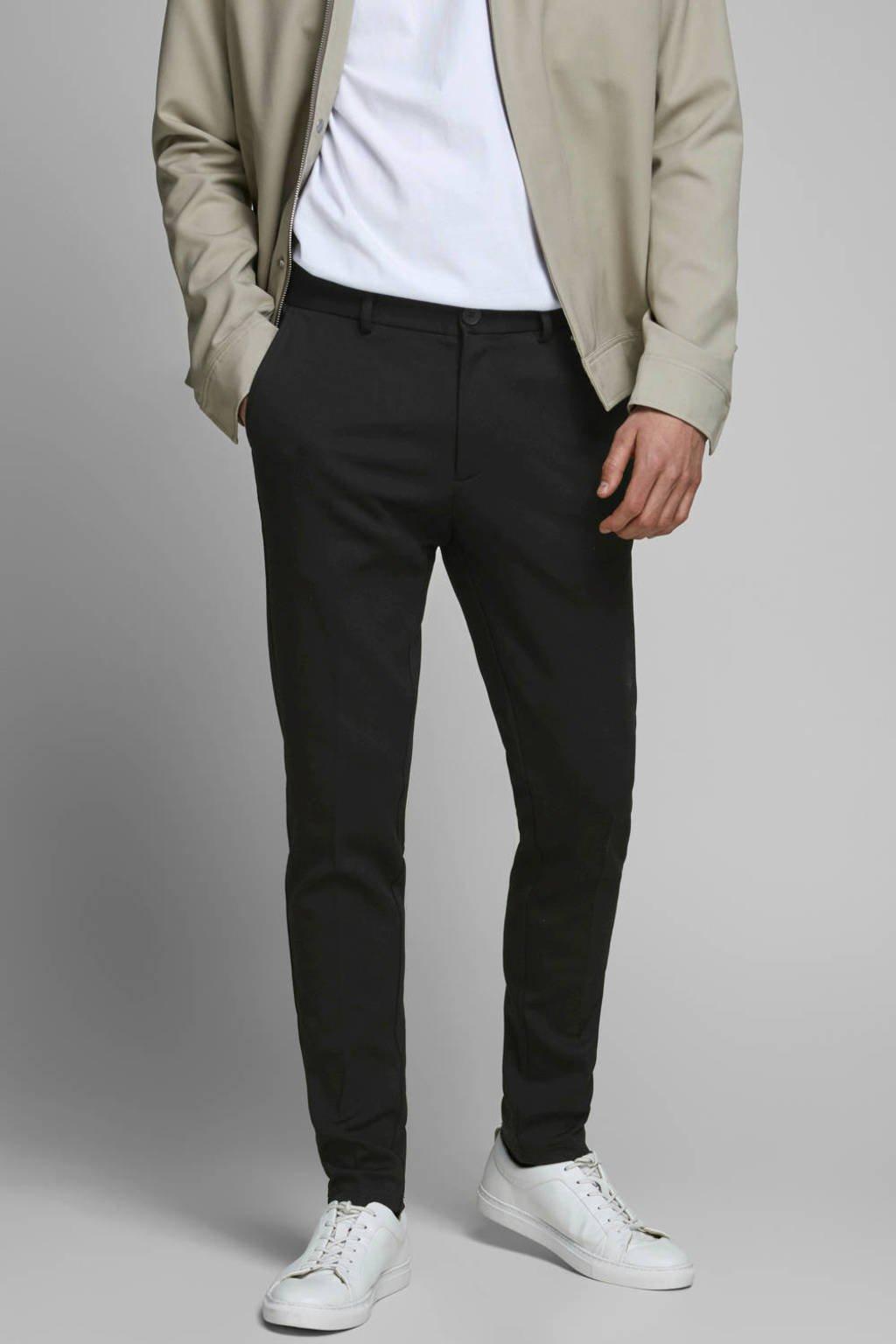 JACK & JONES JEANS INTELLIGENCE slim fit pantalon Marco zwart, Zwart