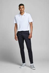 JACK & JONES JEANS INTELLIGENCE slim fit pantalon Marco met all over print donkerblauw, Donkerblauw