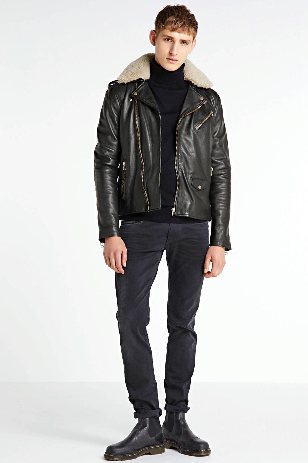 Goosecraft leren winterjas zwart, Zwart