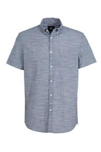 C&A Clockhouse gemêleerd regular fit overhemd grijsblauw, Grijsblauw