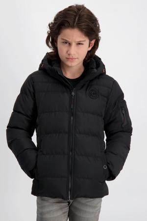 gewatteerde winterjas Sumner zwart