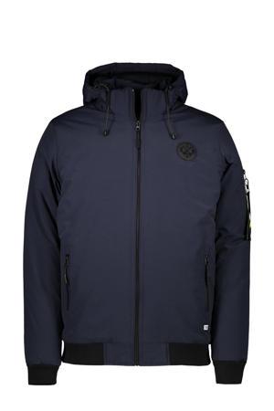 gewatteerde jas Basco donkerblauw
