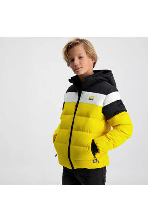 gewatteerde winterjas Granby geel/zwart/wit