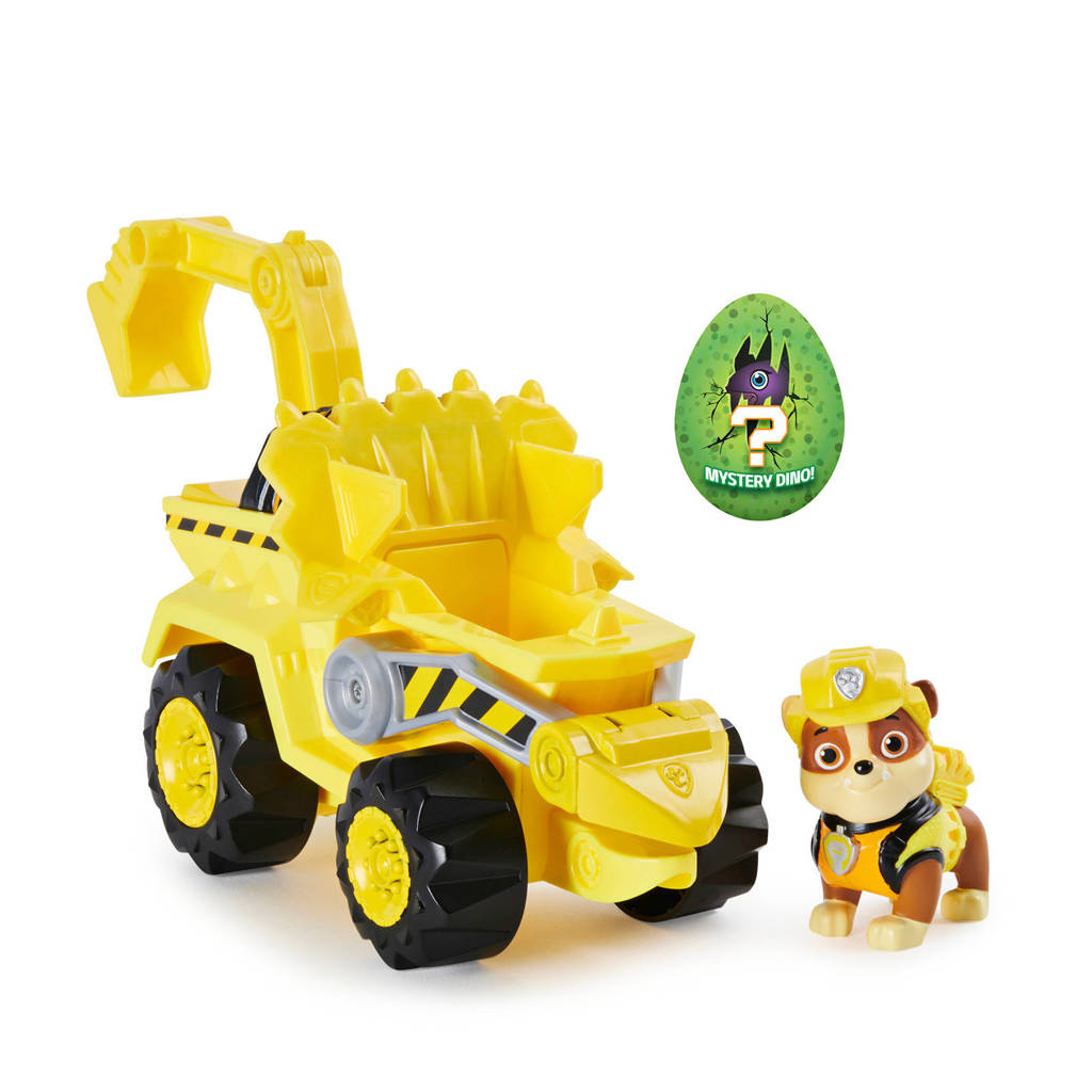 Paw Patrol  Dino Rescue - Deluxe Dino Themed Vehicle Rubble