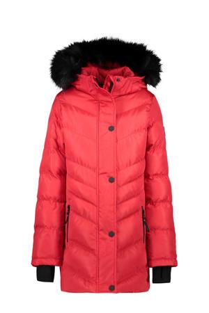 gewatteerde winterjas Javiera rood/zwart