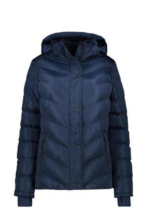 gewatteerde winterjas Lurdes donkerblauw