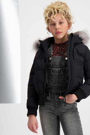gewatteerde winterjas Niver zwart/grijs