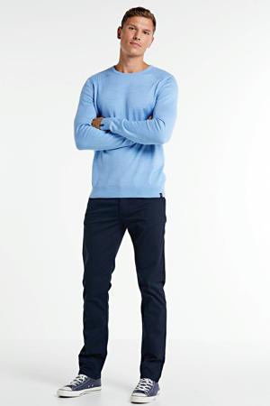 slim fit broek Arne donkerblauw