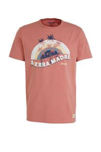 JACK & JONES ORIGINALS T-shirt met printopdruk roze/wit, Roze/wit
