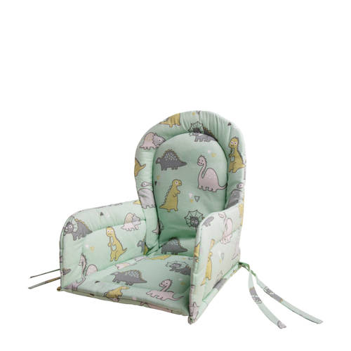 Briljant Baby stoelverkleiner dinoprint wit