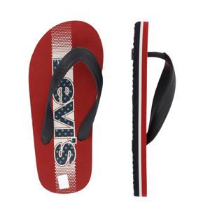 Levi's Kids Virginia Pool Slide teenslippers rood/blauw
