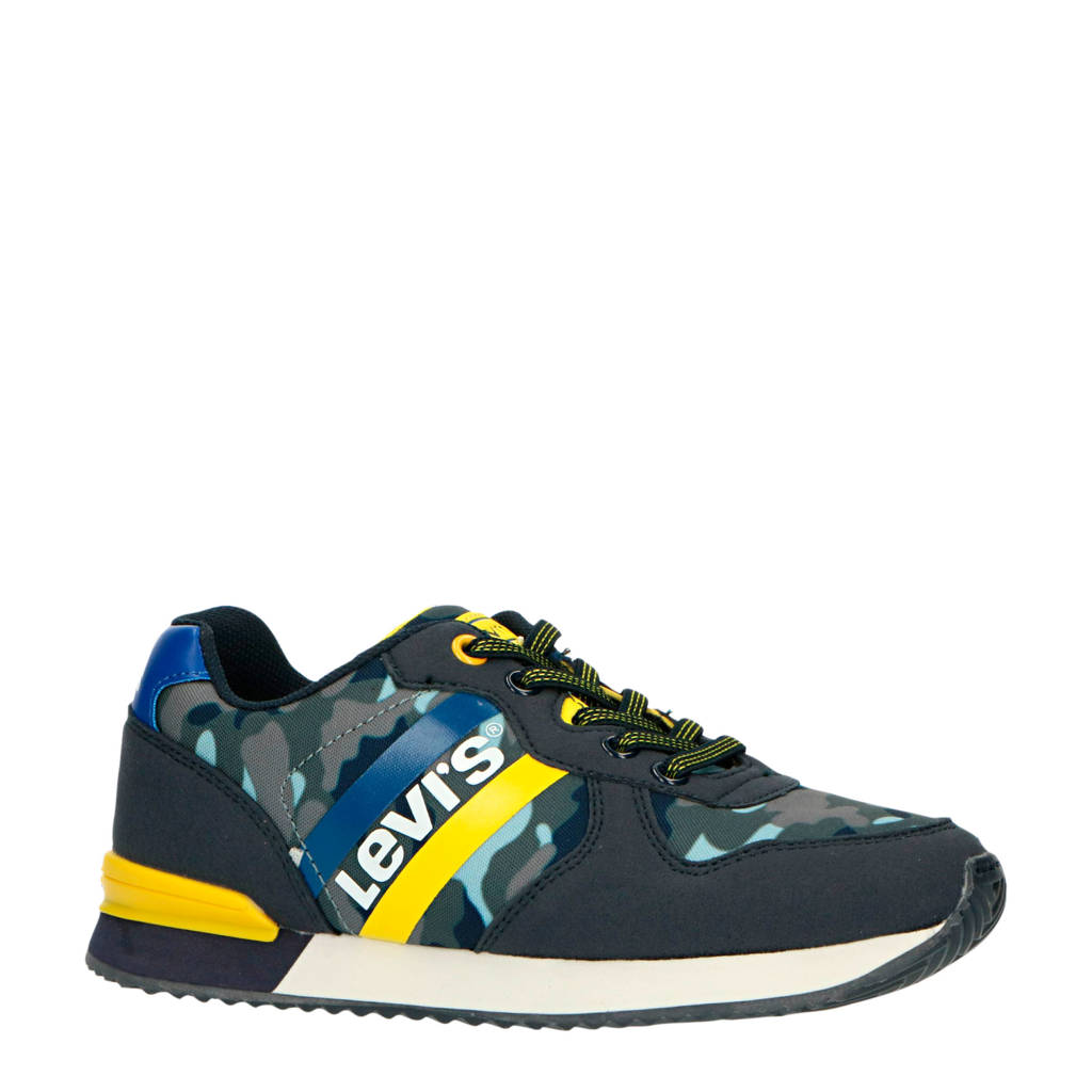 Levi's Kids Springfield  sneakers blauw/geel, Blauw/geel