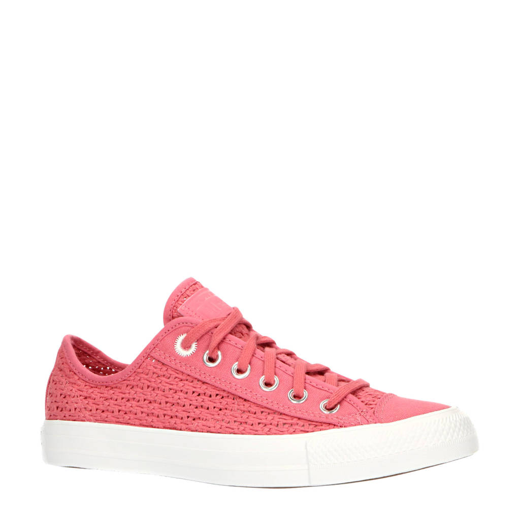 Converse CTAS OX Shimmer  sneakers roze/wit, Roze/wit