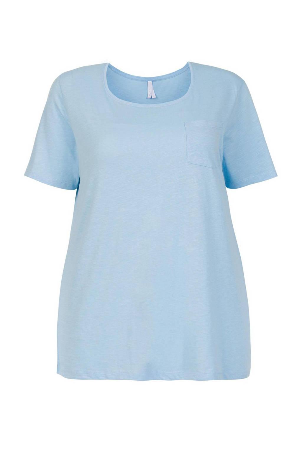 Miss Etam Plus T-shirt lichtblauw, Lichtblauw