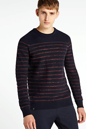 gestreepte trui donkerblauw