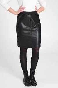 Cassis coated rok met glitters zwart, Zwart