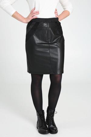 coated rok met glitters zwart