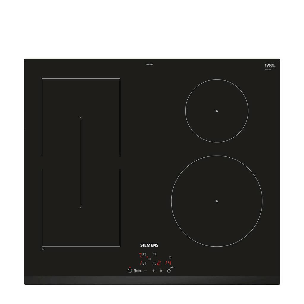 Siemens EE631BPB1E inductie kookplaat (inbouw), Zwart