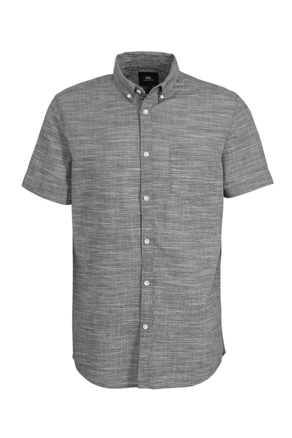C&A Clockhouse gemêleerd regular fit overhemd grijs, Grijs