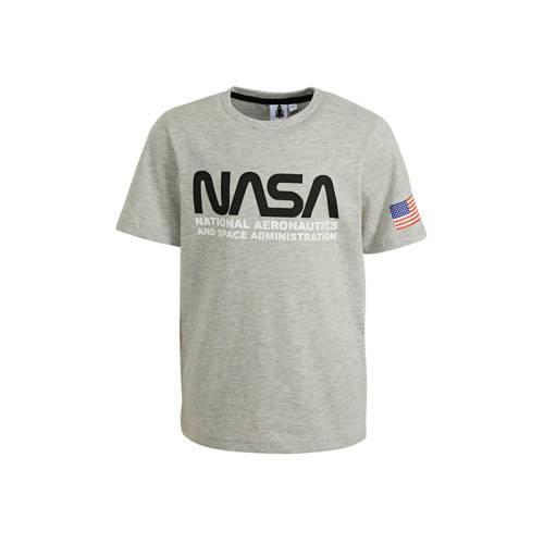 C&A T-shirt met biologisch katoen grijs melang