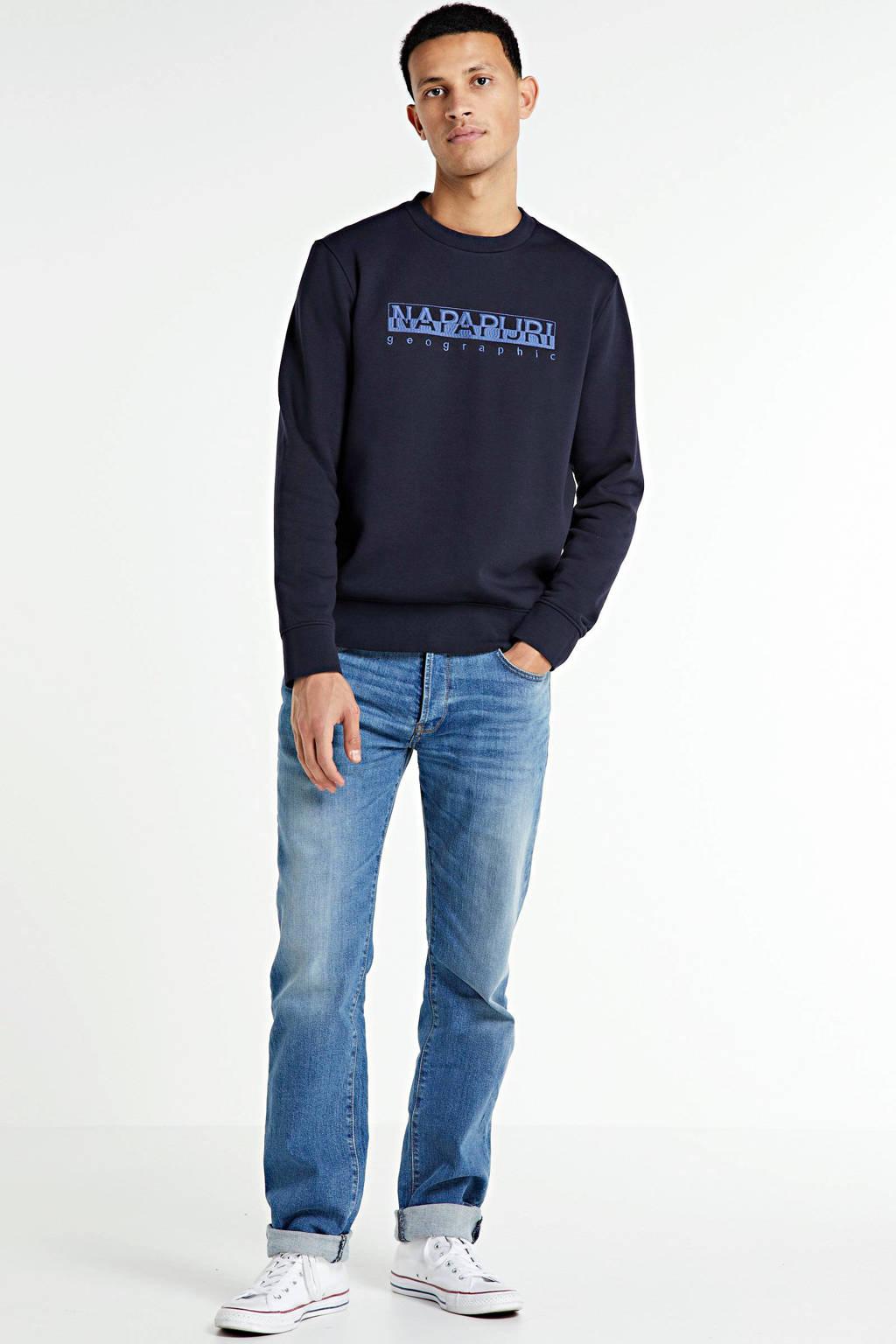 Napapijri sweater Bebel met logo donkerblauw, Donkerblauw