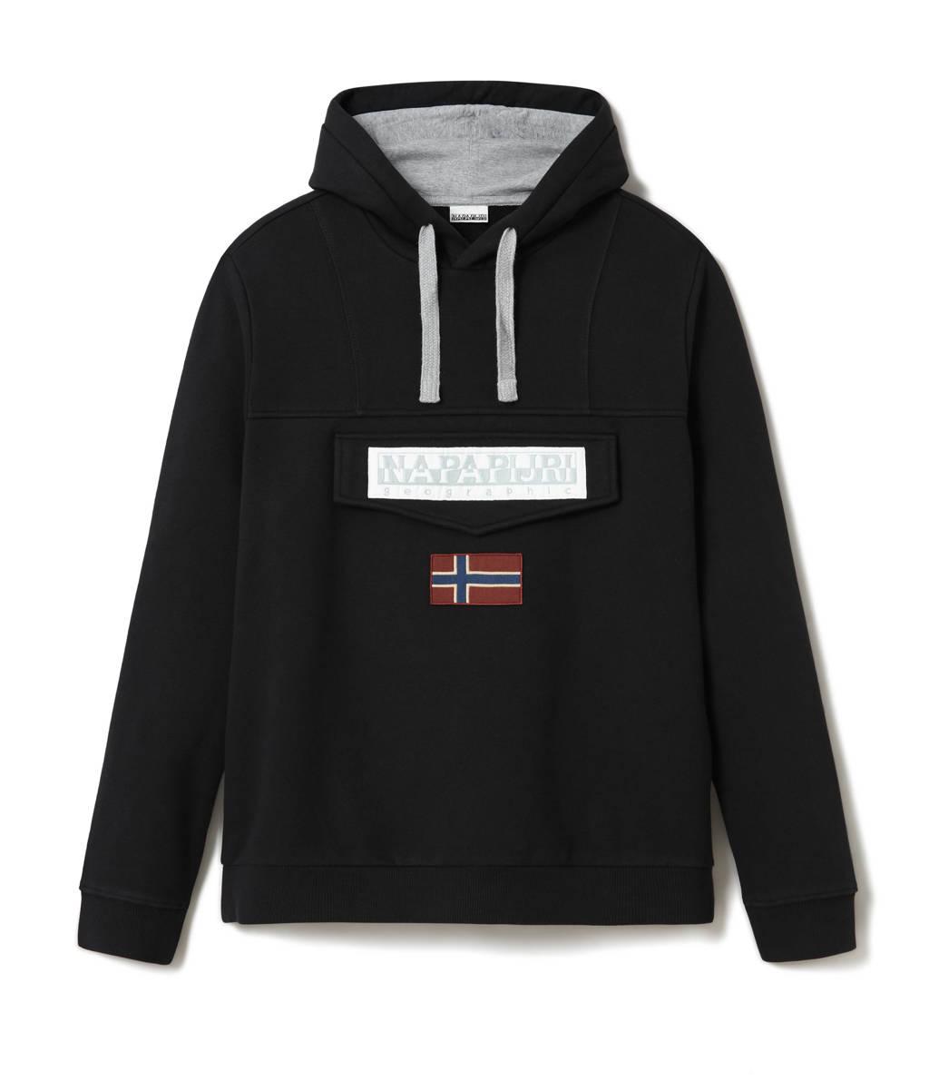 Napapijri hoodie met logo zwart, Zwart