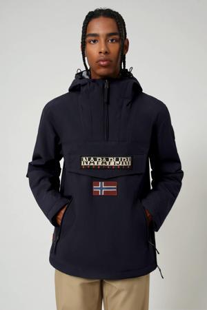 anorak/winterjas Rainforest pocket winter 2 met logo donkerblauw
