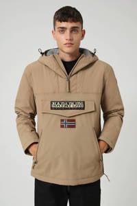 Napapijri anorak/winterjas Rainforest pocket winter 2 met logo beige, Beige