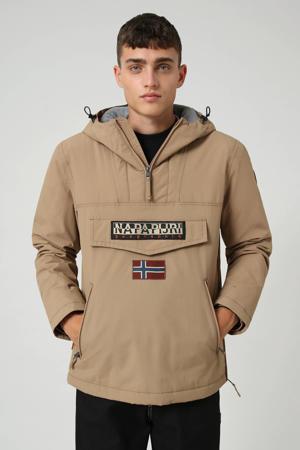 anorak/winterjas Rainforest pocket winter 2 met logo beige
