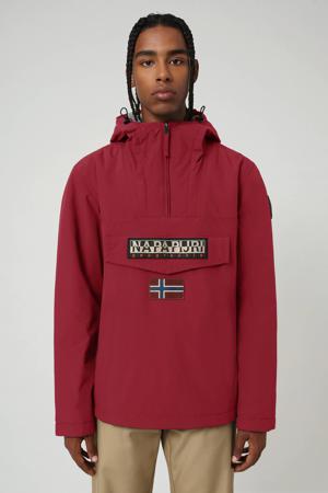 anorak/winterjas Rainforest winter 2 met logo donkerrood