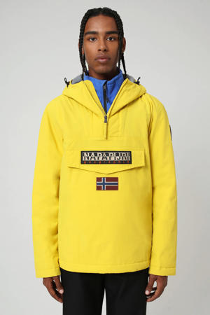 anorak/winterjas Rainforest winter 2 met logo geel
