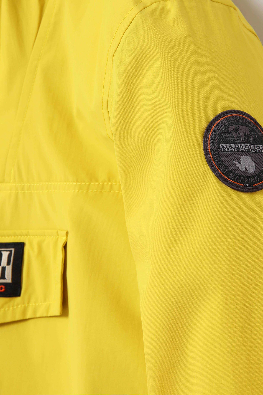 anorakwinterjas Rainforest winter 2 met logo geel