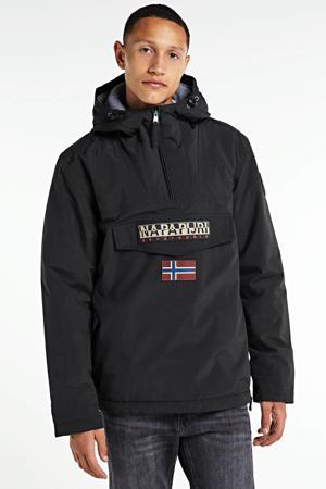 anorak/winterjas Rainforest winter 2 met logo zwart