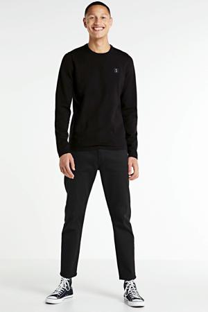 fijngebreide trui met wol zwart