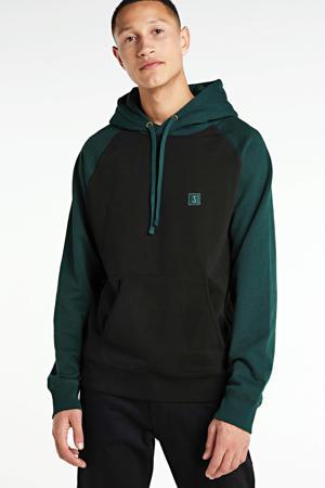 hoodie zwart/groen