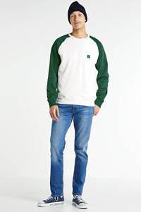 Butcher of Blue sweater groen/wit, Groen/wit