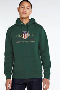 GANT hoodie met logo donkergroen, Donkergroen