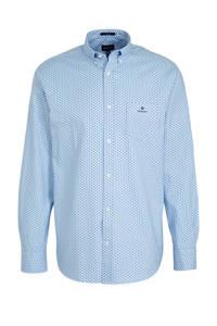 GANT regular fit overhemd met all over print lichtblauw, Lichtblauw