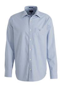 GANT gestreept regular fit overhemd lichtblauw, Lichtblauw