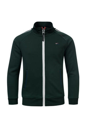 vest Nolon met contrastbies groen