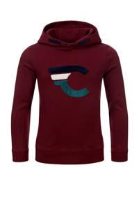 COMMON HEROES hoodie Finn met logo donkerrood, Donkerrood