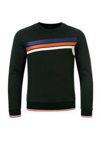 COMMON HEROES sweater Collin met printopdruk donkergroen, Donkergroen
