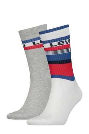 sokken Regular Cut Stripe - set van 2 wit