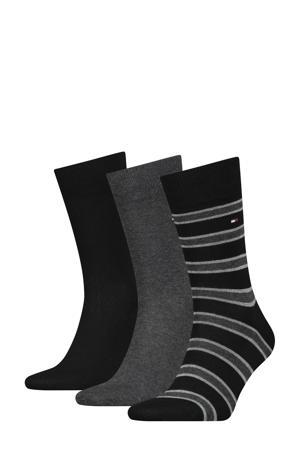 sokken set van 3 paar zwart