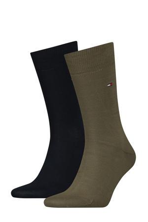 sokken Classic set van twee paar olijf